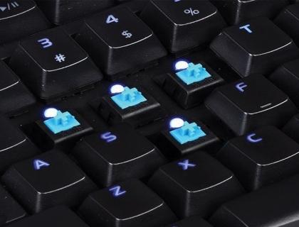 Blue Switch Illuminated Gaming Keyboard Black