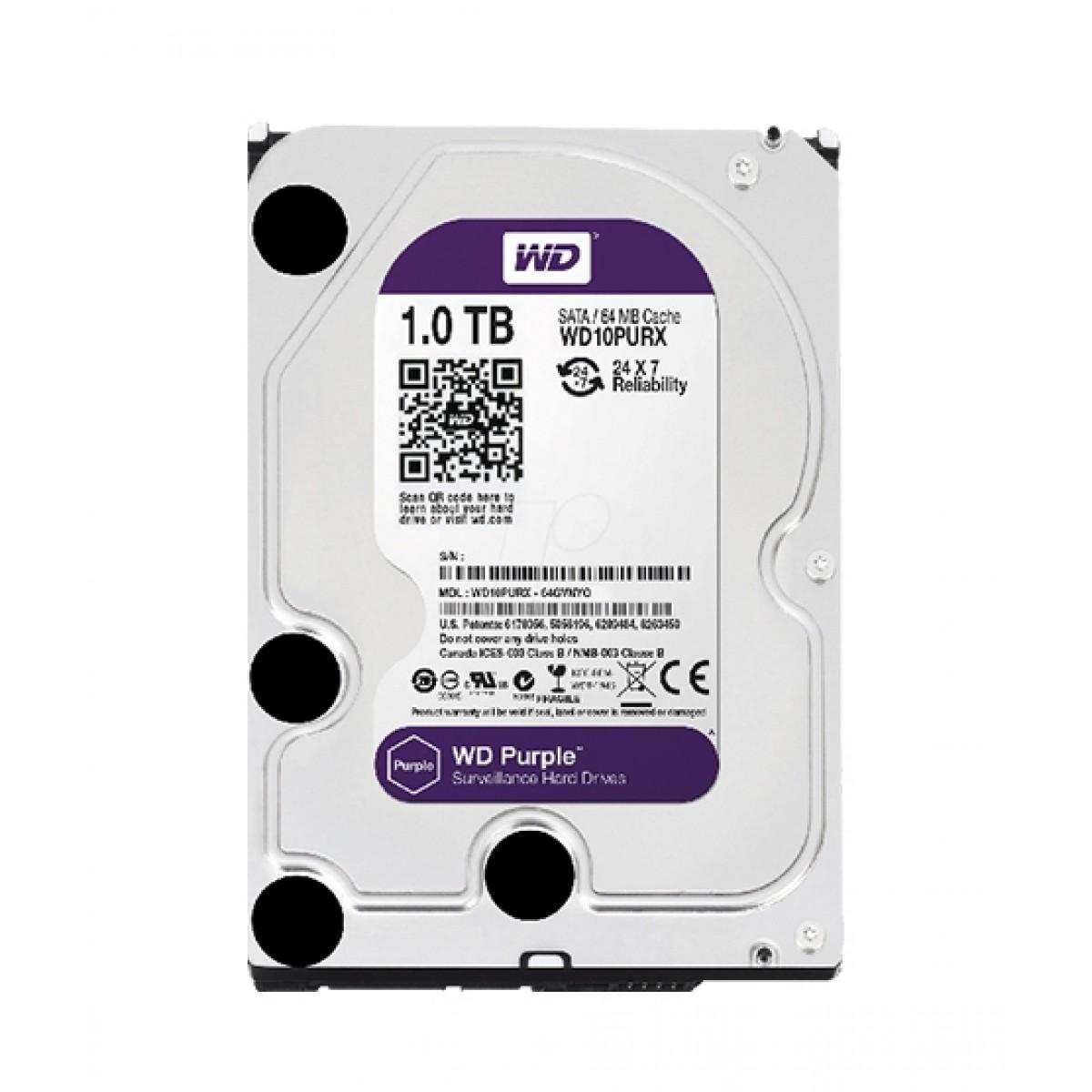WD Purple 1TB SATA Surveillance Internal Hard Drive