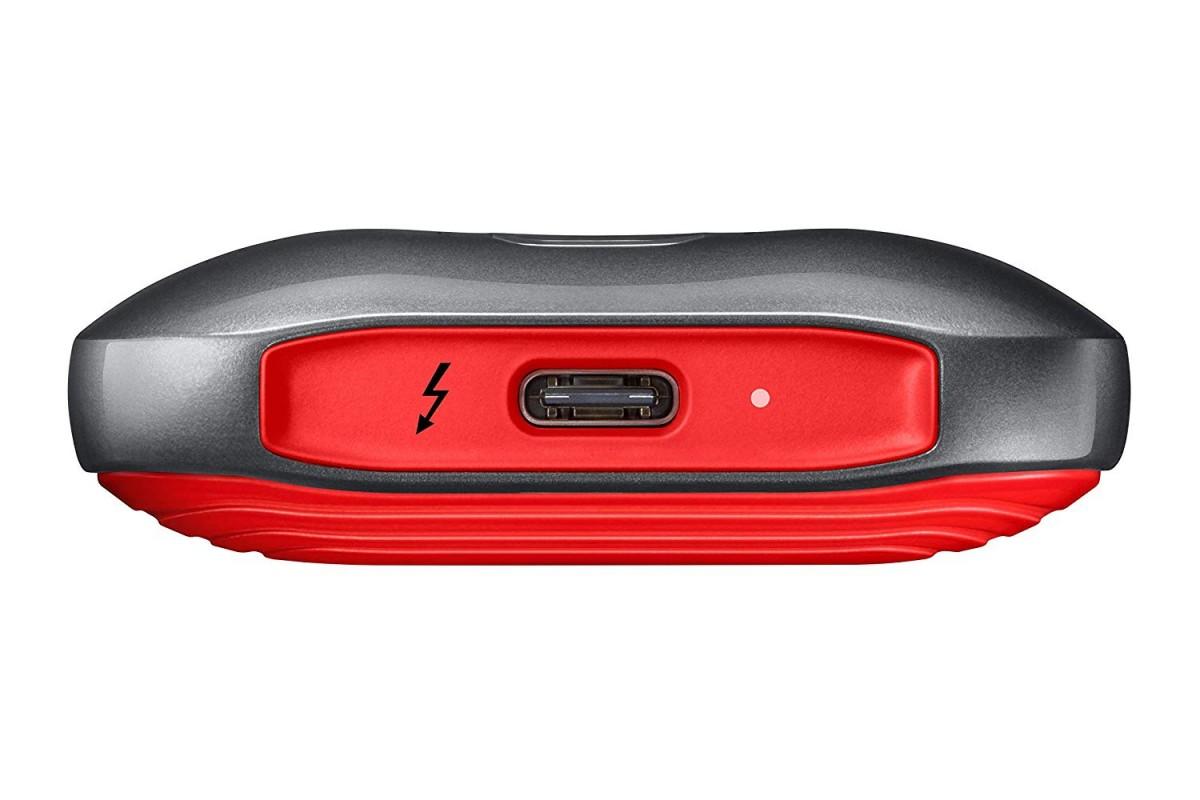 Samsung X5 2TB Portable External SSD GrayRed