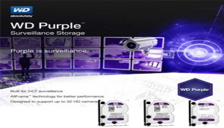 WD Purple 2TB SATA Surveillance Internal Hard Drive
